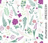 seamless flower pattern... | Shutterstock .eps vector #298232234