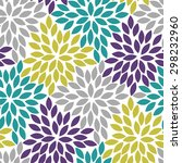 abstract floral seamless... | Shutterstock .eps vector #298232960