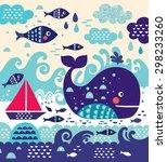 cartoon vector illustration... | Shutterstock .eps vector #298233260