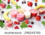 homemade fruity smoothies  ... | Shutterstock . vector #298243700
