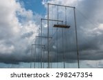 circus flying trapeze outside... | Shutterstock . vector #298247354
