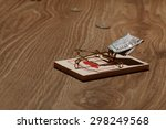 mousetrap with dollars | Shutterstock . vector #298249568