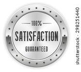 white 100 percent satisfaction... | Shutterstock .eps vector #298251440