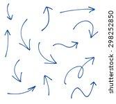 hand drawn creative arrows. ink ... | Shutterstock .eps vector #298252850