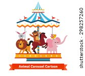Happy Funny Cartoon Animals...