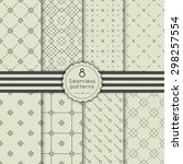 vector set seamless pattern...   Shutterstock .eps vector #298257554