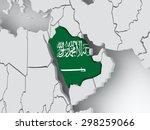 map of worlds. saudi arabia. 3d | Shutterstock . vector #298259066