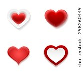 red realistic detailed heart... | Shutterstock .eps vector #298260449