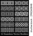 12 white rectangle seamless... | Shutterstock .eps vector #298260848