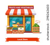 local fruit and vegetables... | Shutterstock .eps vector #298262603