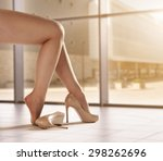 legs of woman  | Shutterstock . vector #298262696