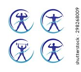 medical  physical fitness man... | Shutterstock .eps vector #298268009