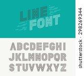 Vector Linear Font   Simple An...