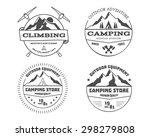 set of monochrome mountain... | Shutterstock .eps vector #298279808