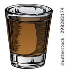shot glass hand drawn is an... | Shutterstock .eps vector #298283174