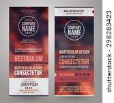 vector corporate identity... | Shutterstock .eps vector #298283423