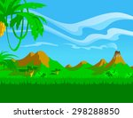 the illustration of the green... | Shutterstock . vector #298288850