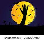 halloween zombie background   Shutterstock .eps vector #298290980