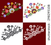pattern folk with flowers  ... | Shutterstock .eps vector #298295108