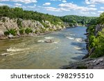 Flowing Potomac River At Great...