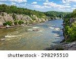 Flowing Potomac River At Great...