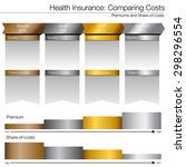 an image of a cost compare... | Shutterstock .eps vector #298296554