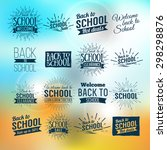 back to school typographic  ... | Shutterstock .eps vector #298298876