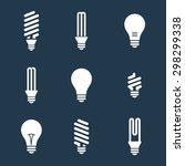 light bulbs. bulb icon set.... | Shutterstock .eps vector #298299338