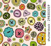 vector seamless of colored... | Shutterstock .eps vector #298303319