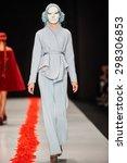 a model walks on the dimaneu... | Shutterstock . vector #298306853