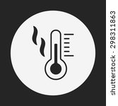 thermometer icon | Shutterstock .eps vector #298311863