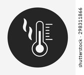 thermometer icon | Shutterstock .eps vector #298311866