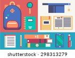 back to school  vector icons...   Shutterstock .eps vector #298313279