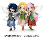 Cute Toon Fairy Friends Posing...
