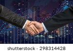 hand shake between businessman... | Shutterstock . vector #298314428