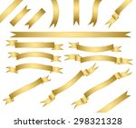 set of gold ribbons.vector | Shutterstock .eps vector #298321328
