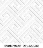 white 3d fastened spirals... | Shutterstock .eps vector #298323080