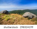 rock mountain cliff and blue sky | Shutterstock . vector #298324199