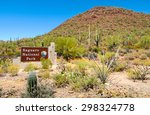welcome sign at saguaro... | Shutterstock . vector #298324778