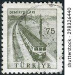 turkey   circa 1960  postage... | Shutterstock . vector #298326440