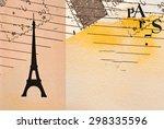paris   vintage valentine's day ...   Shutterstock . vector #298335596