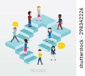 social groups of people walking ... | Shutterstock .eps vector #298342226