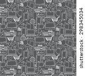 seamless pattern hand drawn... | Shutterstock .eps vector #298345034
