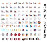 100 charts diagrams and... | Shutterstock .eps vector #298350368