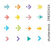 illustration colorful arrows... | Shutterstock . vector #298352414