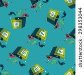 shopping present flat icon... | Shutterstock .eps vector #298353044