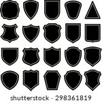 shield blank emblems. heraldic... | Shutterstock .eps vector #298361819
