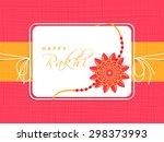 creative greeting card design... | Shutterstock .eps vector #298373993