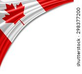 canada flag of silk with... | Shutterstock . vector #298377200