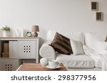 white couch and commode in... | Shutterstock . vector #298377956